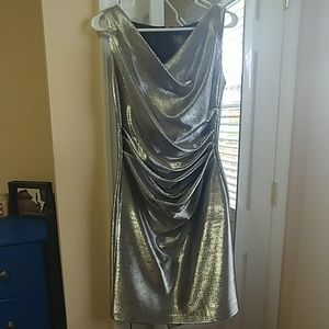 Silver Vince Camuto Cocktail Dress